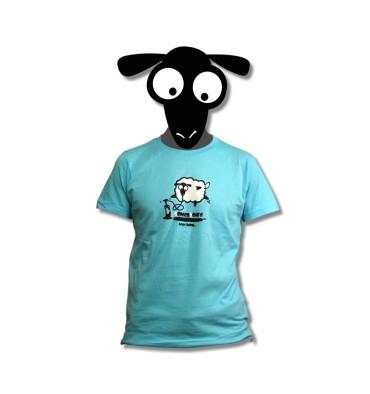 t -shirt goldenboard blue sheep